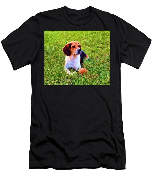 The Reserved Beagle Men's T-Shirt (Athletic Fit)