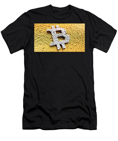 The Rise And Rise Of Bitcoin Men's T-Shirt (Athletic Fit)
