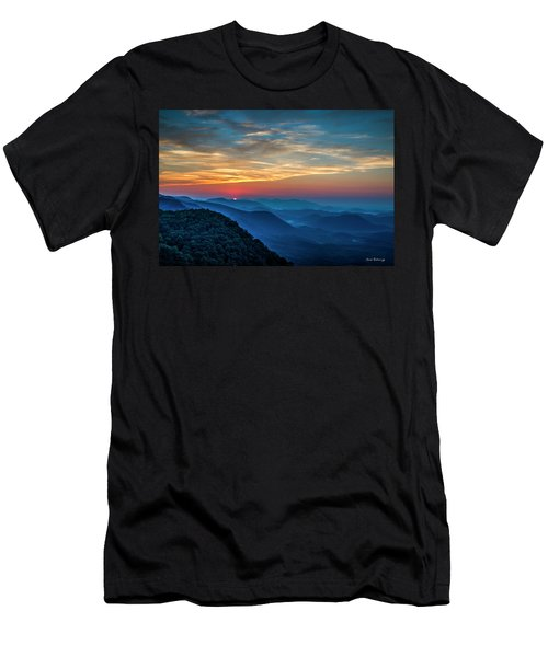 The Rising Sun Pretty Place Chapel Greenville S C Great Smoky Mountain Art Men's T-Shirt (Athletic Fit)