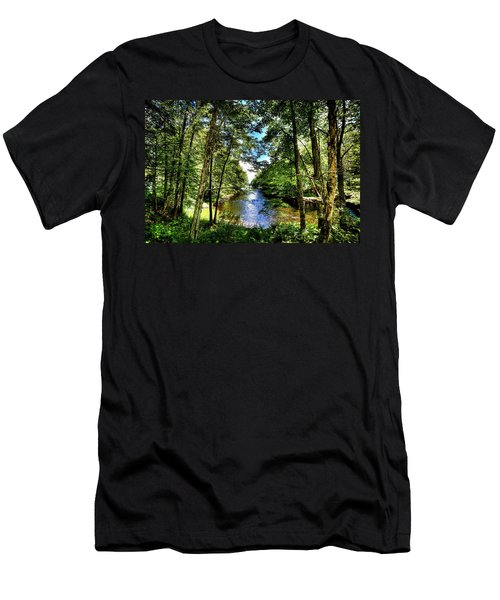 Men's T-Shirt (Athletic Fit) featuring the photograph The River At Covewood by David Patterson
