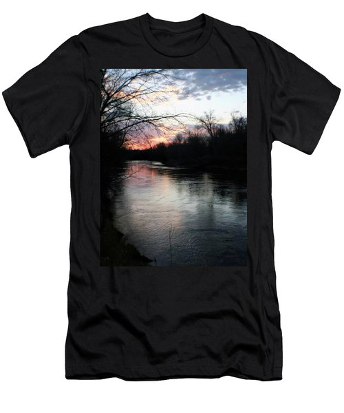 The River At Sunset Men's T-Shirt (Athletic Fit)