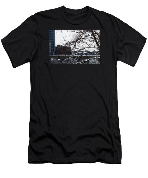 The River Divide Men's T-Shirt (Slim Fit) by Linda Shafer