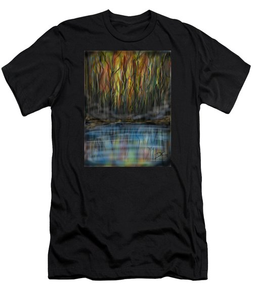 Men's T-Shirt (Athletic Fit) featuring the digital art The River Side by Darren Cannell
