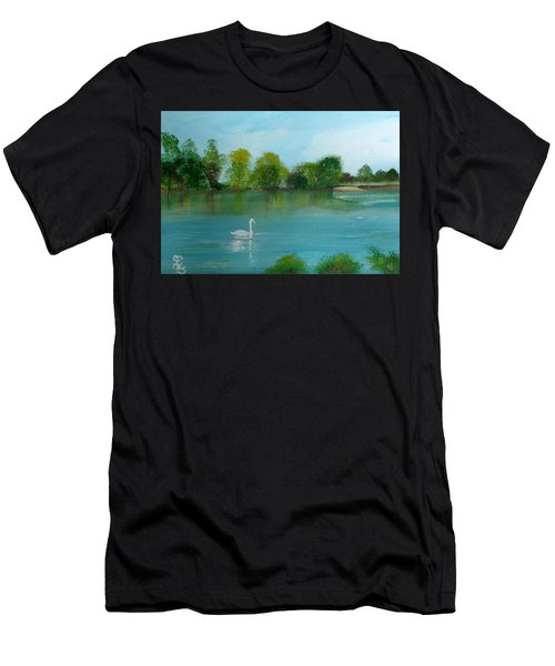 The River Thames At Shepperton Men's T-Shirt (Athletic Fit)