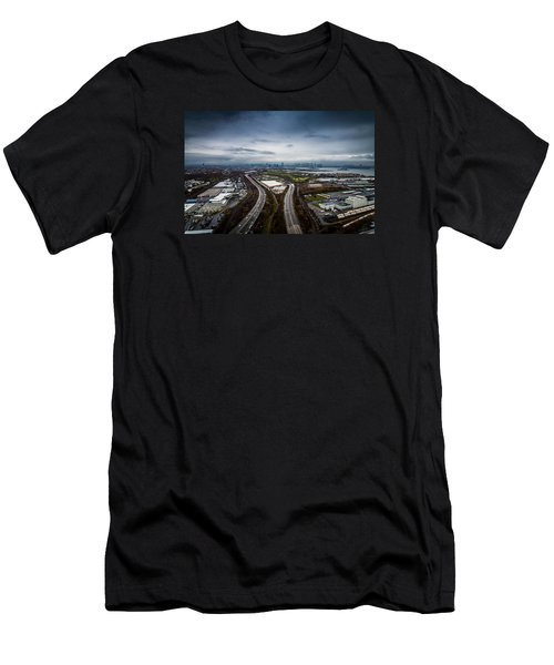 Men's T-Shirt (Athletic Fit) featuring the photograph The Road Ahead by Johnny Lam