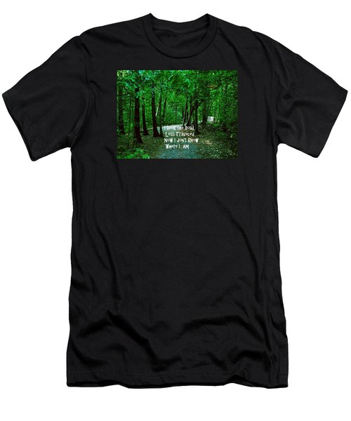The Road Less Traveled Men's T-Shirt (Slim Fit) by Gary Wonning