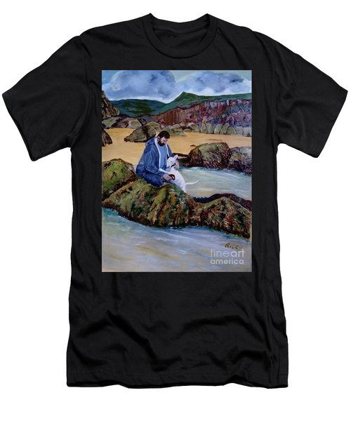The Rock Pool - Painting Men's T-Shirt (Athletic Fit)