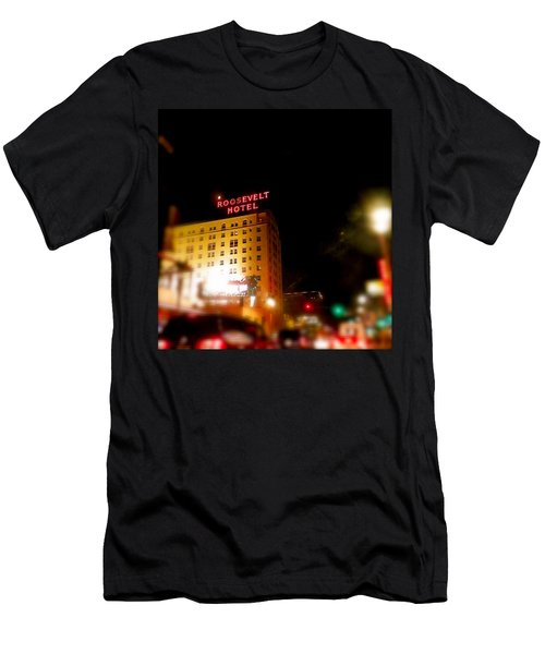 The Roosevelt Hotel By David Pucciarelli  Men's T-Shirt (Slim Fit) by Iconic Images Art Gallery David Pucciarelli