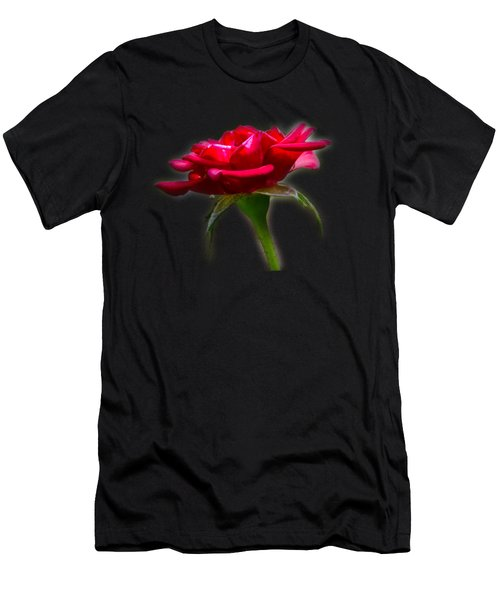 The Rose  Tee-shirt Men's T-Shirt (Slim Fit) by Donna Brown