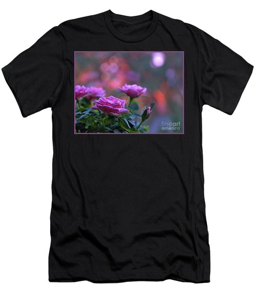 Men's T-Shirt (Athletic Fit) featuring the photograph The Roses by Lance Sheridan-Peel