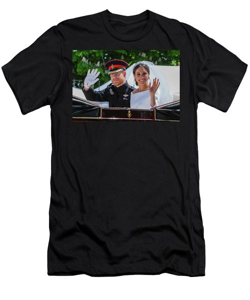 The Royal Wedding Of Prince Harry  To Meghan  Men's T-Shirt (Athletic Fit)