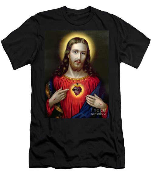 The Sacred Heart Of Jesus Men's T-Shirt (Athletic Fit)