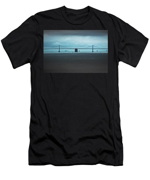 The San Francisco - Oakland Bay Bridge Men's T-Shirt (Athletic Fit)