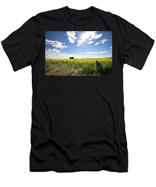 The Saskatchewan Prairies Men's T-Shirt (Athletic Fit)