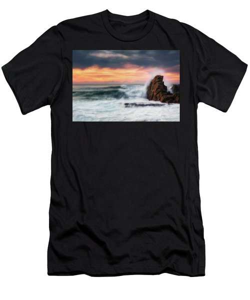The Sea Against The Rock Men's T-Shirt (Athletic Fit)