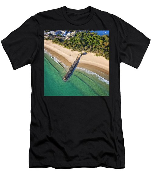 The Sea Wall Near Noosa Main Beach Men's T-Shirt (Athletic Fit)