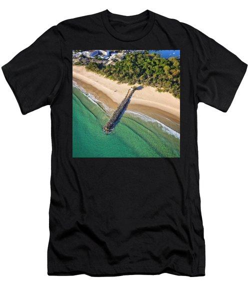 The Sea Wall Near Noosa Main Beach Men's T-Shirt (Athletic Fit)