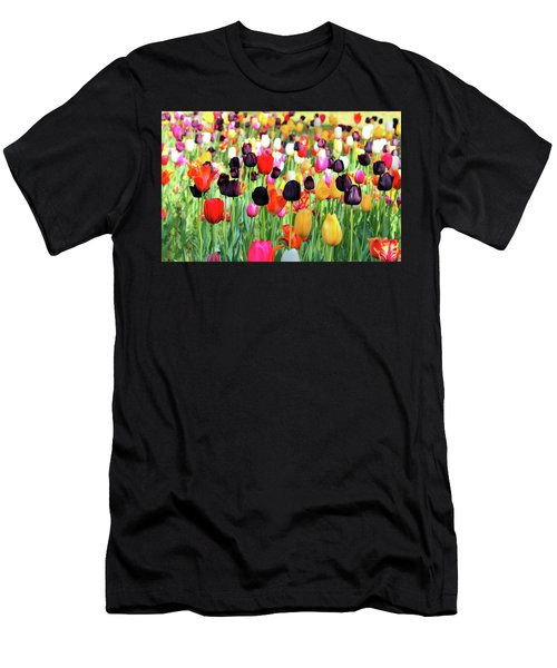 The Season Of Tulips Men's T-Shirt (Athletic Fit)