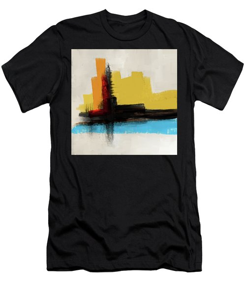 Men's T-Shirt (Athletic Fit) featuring the mixed media The Secret Island by Eduardo Tavares