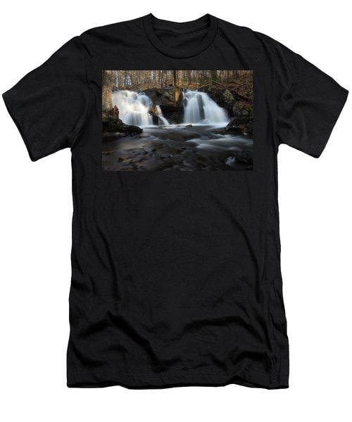 The Secret Waterfall In Golden Light Men's T-Shirt (Athletic Fit)