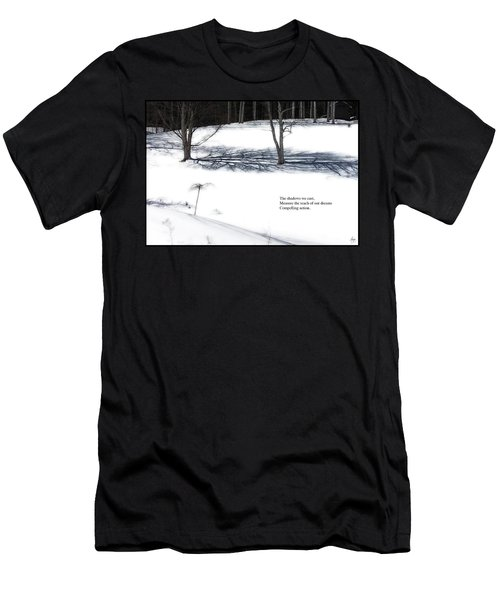 Men's T-Shirt (Athletic Fit) featuring the photograph The Shadows We Cast Haiku by Wayne King