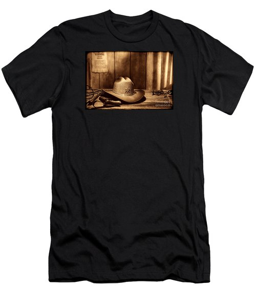 The Sheriff Office Men's T-Shirt (Slim Fit) by American West Legend By Olivier Le Queinec