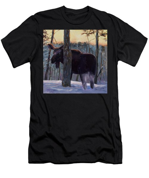 Men's T-Shirt (Slim Fit) featuring the painting The Shy One by Billie Colson