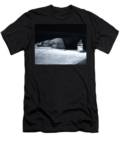 Men's T-Shirt (Slim Fit) featuring the photograph The Sidewalks Of New York by RC deWinter