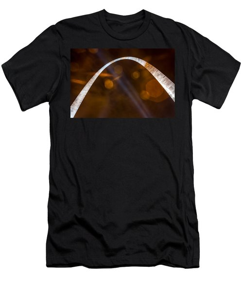 The Silver Gateway Arch Men's T-Shirt (Slim Fit) by Semmick Photo