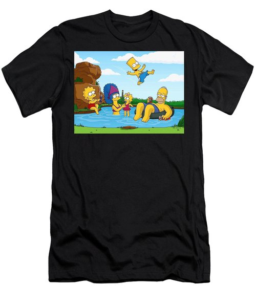 The Simpsons Men's T-Shirt (Athletic Fit)