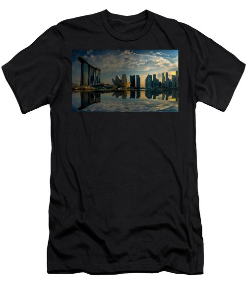 The Singapore Skyline Men's T-Shirt (Athletic Fit)