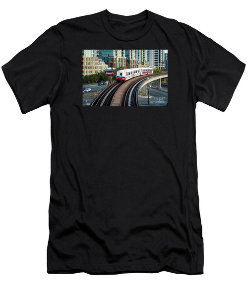 The Skytrain In Vancouver Men's T-Shirt (Athletic Fit)