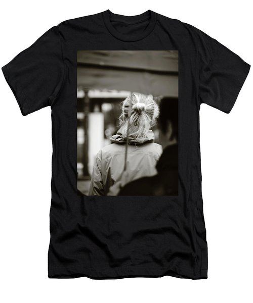 Men's T-Shirt (Slim Fit) featuring the photograph The Smell Of Your Hair by Empty Wall