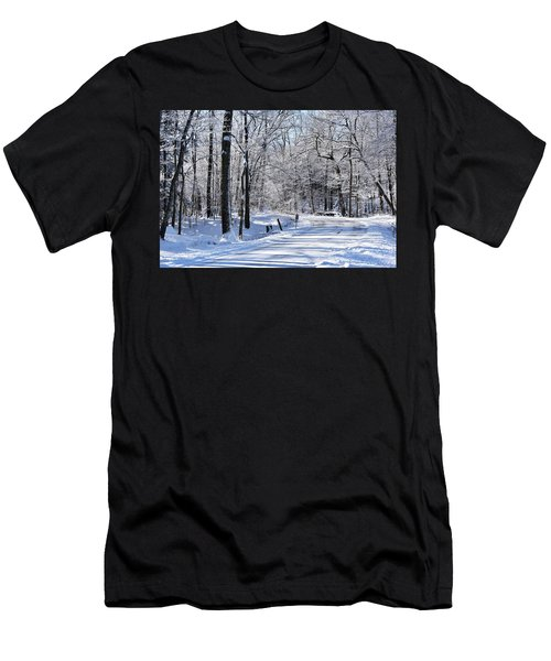 The Snowy Road 1 Men's T-Shirt (Athletic Fit)