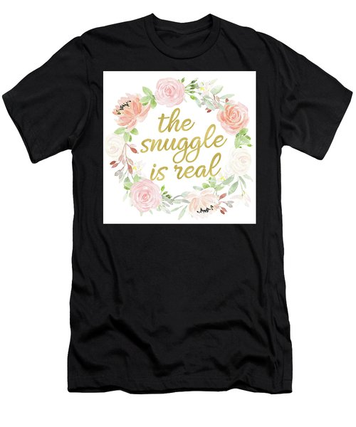 The Snuggle Is Real Wall Art Baby Girl  Nursery Pillow Boho Blush Gold Men's T-Shirt (Athletic Fit)