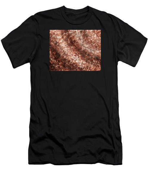 The Sound Wave Beige Abstract Men's T-Shirt (Athletic Fit)