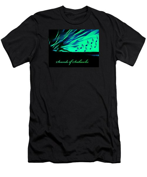 The Sounds Of Seattle Seahawks Men's T-Shirt (Slim Fit) by Eddie Eastwood