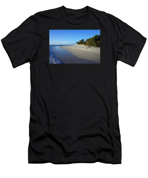 The South End Of Barefoot Beach In Naples, Fl Men's T-Shirt (Athletic Fit)
