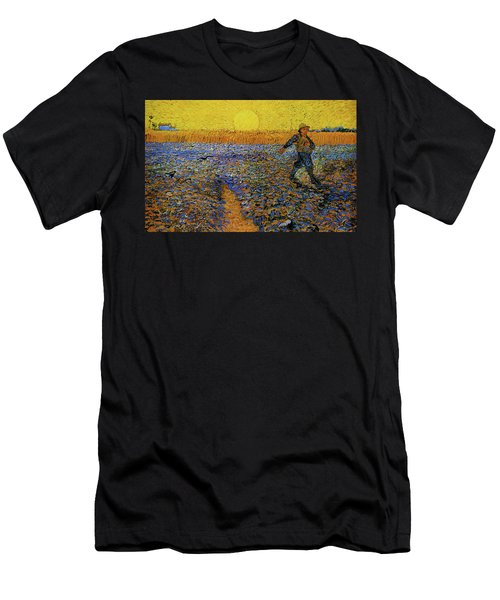 Men's T-Shirt (Athletic Fit) featuring the painting The Sower by Van Gogh