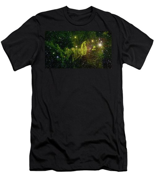 Men's T-Shirt (Slim Fit) featuring the photograph The Spider And The Fly Nebula by NASA JPL - Caltech