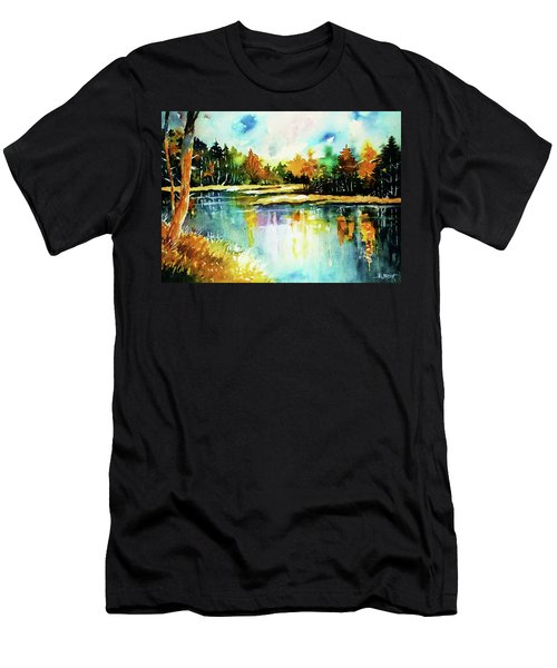 The Splendor And  Color Of Autumn Men's T-Shirt (Slim Fit) by Al Brown