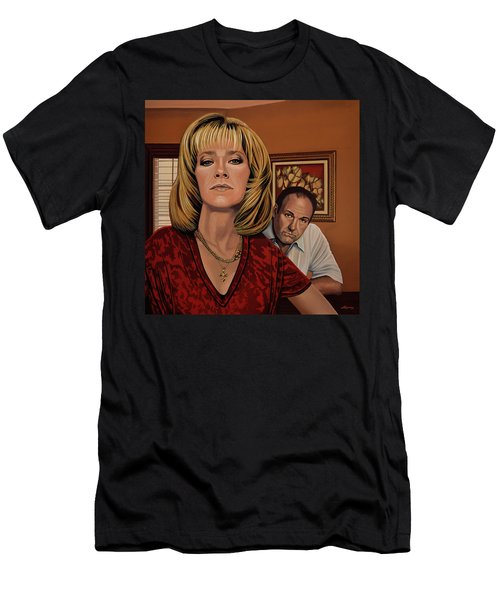 The Sopranos Painting Men's T-Shirt (Athletic Fit)