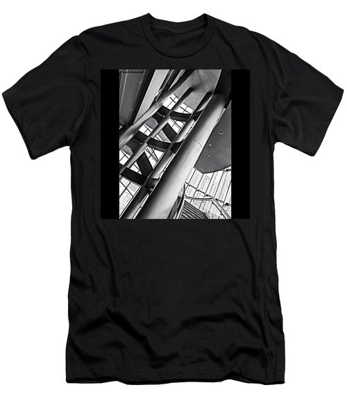 The #stairway In Our #downtown #houston Men's T-Shirt (Athletic Fit)