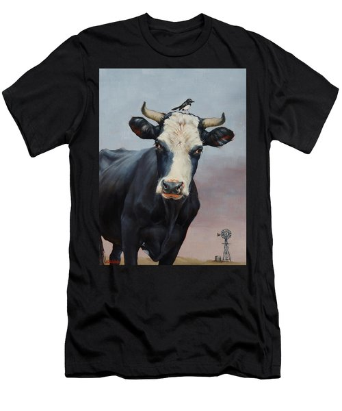 The Stare Men's T-Shirt (Slim Fit) by Margaret Stockdale
