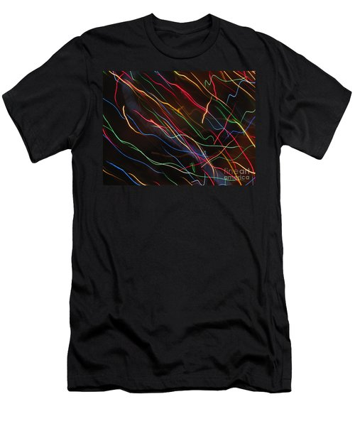 Men's T-Shirt (Slim Fit) featuring the photograph The Storm Of Falling Stars. Dancing Lights Series by Ausra Huntington nee Paulauskaite