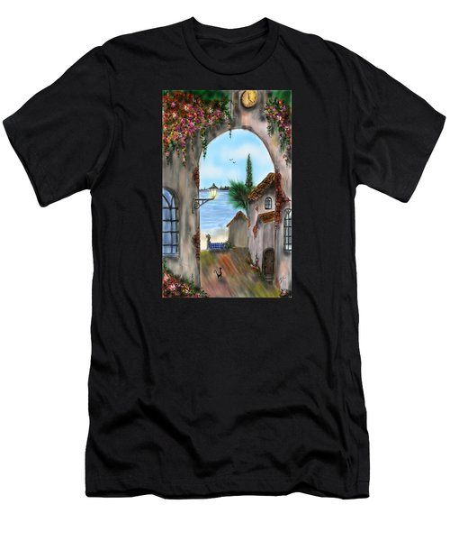 Men's T-Shirt (Athletic Fit) featuring the digital art The Street by Darren Cannell