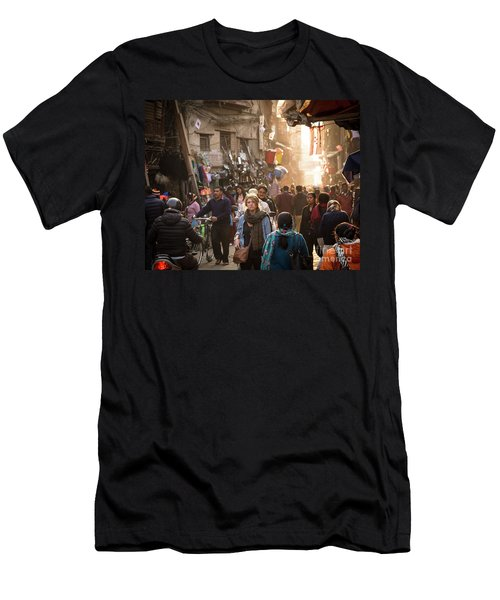 The Streets Of Kathmandu Men's T-Shirt (Athletic Fit)