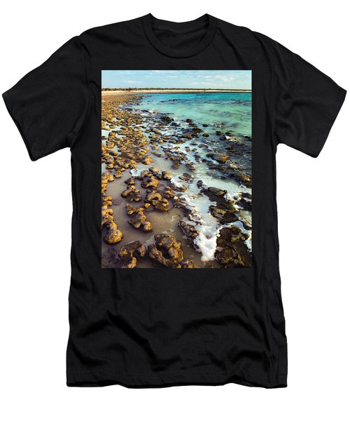 The Stromatolite Family Enjoying Its 1277500000000th Sunset Men's T-Shirt (Athletic Fit)
