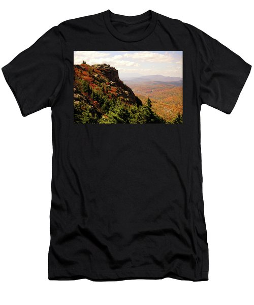 Men's T-Shirt (Slim Fit) featuring the photograph The Summit In Fall by Meta Gatschenberger