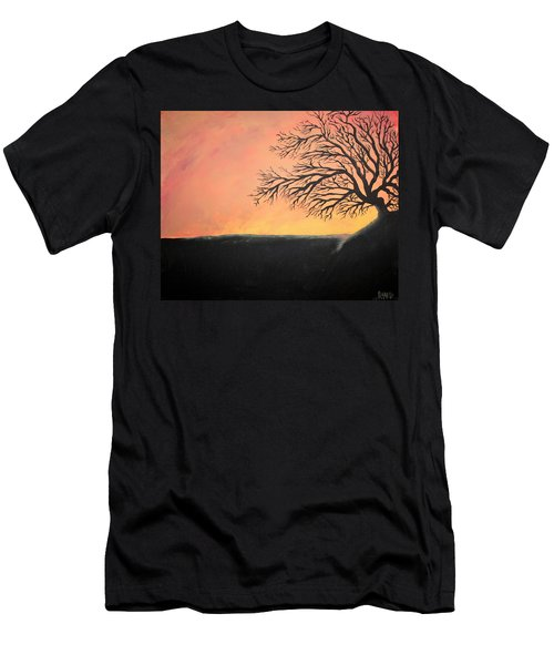 Men's T-Shirt (Slim Fit) featuring the painting The Sun Was Set by Antonio Romero
